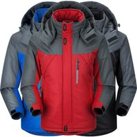 big mountain ski - Plus Size Mountain skiing ski wear winte waterproof hiking outdoor jacket snowboard jacket ski suit men Big yards snow jackets