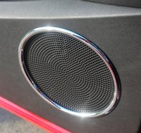 Wholesale ABS Chrome trim Audio Decorative Ring Speaker For FORD ESCAPE KUGA auto accessories