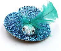 beauty ornaments - 2016 New prevalent beauty bride Wedding ornament bride accessories feather little hat TS128