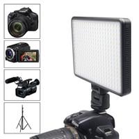 Wholesale Mcoplus LED LED Video Light W k k Professional Photography lighting for Canon Nikon DSLR Camera charge mobile phone ipad etc