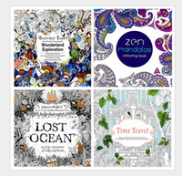 Wholesale adult coloring books Design Secret Garden An Inky Treasure Hunt and Drawing Book Children Puzzle Adult Relieve Stress Graffiti Painting