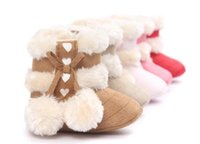 baby white fur boots - rubber sole baby boots hot sale baby snow boots fashion newborn boots winter babies shoes winter bebe shoes many colors