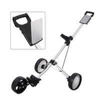 Wholesale New Foldable Wheel Push Pull Golf Cart Folding Trolley Three Wheels Swivel