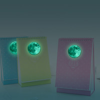 bathroom mirror design - PVC Glowing Wall Stickers Moon Shape cm Green Fairy Novelty Luminous Night Glow in the Dark Great Gift and Notebook Decoration