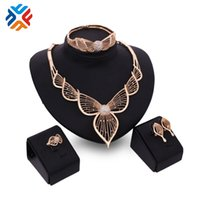 Cheap African Big Jewelry Sets Women Jewelry Necklace Best Quality Costume Bridal High Quality Fashion Jewery Set Gold Plated SY135