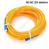 Wholesale Factory direct SC UPC SC UPC M fiber connectors patchcord Optical fiber jumper to FTTH single mode SM Simplex meters mm cable