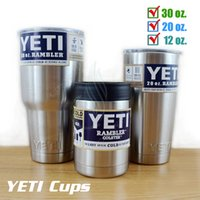 Wholesale Hot Bilayer YETI Cups OZ Stainless Steel Insulation Mug Cup Car yeti Travel Vehicle Beer Large Capacity Tumblerful DHL