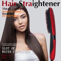2016 más nuevo visualizador LCD Dispaly plancha para el pelo Peines 80-230 Grado NASV Beauty Star pelo alisado de Cepillo