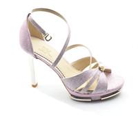 Dower Me Pink Azul zapatos de tacones altos de la mujer 2016 tobillo de los talones de tiras delgadas Sandalias Mujer atractiva del dedo del pie del pío de las sandalias de cuero de la PU
