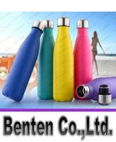 Wholesale Cola Shaped Insulated Double Wall Vacuum high luminance Water Bottle oz ml Creative Thermos bottle Vaccum Insulated LLFA