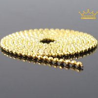 acrylic nail chains - High Quality Charming Meter Beads Line Chain For Acrylic Nail Art D False Tips DIY Decoration Golden