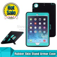 armor mini - Kickstand Hybrid in Robot Design Protection PC Silicone Dual Color Rubber Skin Stand Cover Armor Case for ipad air ipad4 air2