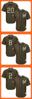 baseball braun - Brewers Jonathan Lucroy Ryan Braun Scooter Gennett Green Salute to Service Stitched Baseball Jersey Top Quality Drop Shipping Cheap