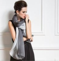 Wholesale Scarf New Simple Fashion Style ocean Women Girls Lady Real Silk beach Sunscreen Beautiful Fascinating Scarves