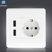 Wholesale 2 A Wall Socket Charger Screw Dual USB Port Electric Shock Protection EU Plug