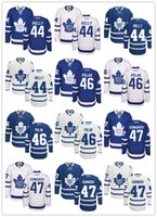 Wholesale Toronto Maple Leafs Morgan Rielly Roman Polak Leo Komarov Hockey Jerseys Name and Number All Stitched Logos