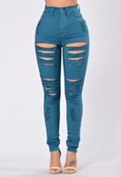 american vintage apparel - Black Ripped Jeans for Women Hot American Apparel Skinny Pencil Jeans Boyfriend Style Sexy Distressed Denim Ripped Jeans