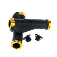 Wholesale 1 Pair MTB Mountain Bike Bicycle Cycling Double Lock on Handlebar Grip Nonslip Rubber Bar End Bike Accessory