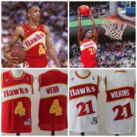Wholesale A Men free shiping Spud Webb Dominique Wilkins best quality