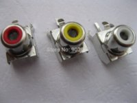 av pin jack - 30 per AV Pin Jack RCA Female Color Audio Video AV Socket Connector AV