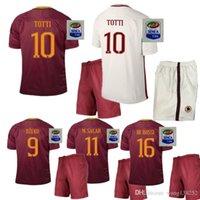 Wholesale 2016 top quality Rome Jersey kit PJANIC DZEKO TOTTI DE ROSSI home away Associazione Sportiva Roma M SALAH Jersey