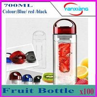 Wholesale Tritan Plastic Fruit Juice Infuser Bottle Outdoor Sports Infusing Water Bottles ml Lemon Cup BPA Free Eco Friendly Drinkware YX SGB