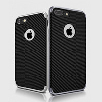 bee carbon fiber - For iphone plus Slim Hybrid Bumble Bee Carbon Fiber Flexible TPU Case Impact Bumper Cover for iphone7 plus