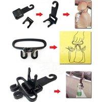 Wholesale Auto Car Vehicle Seat Headrest Hook Bottle Purse Bag Organizer Holder Lifter Hand Tool Hanger Shopping Good Helper