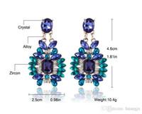 Wholesale Women s Fashion Earrings Rhinestone Gray Pink Glass Black Resin Sweet Metal with Gems Ear Stud Earrings For Women Girls