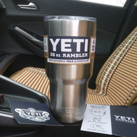 stainless steel mug - 304 Stainless Steel oz Yeti Cups Cooler YETI Rambler Tumbler Cup Vehicle Beer Mug Double Wall Bilayer Vacuum Insulated ml