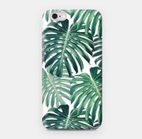 banana plant leaves - Apple iPhone6 s Plus scale tropical plants watercolor realism banana palm leaves cell phone case