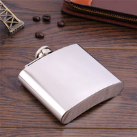 Wholesale 2016 High Quality pc Mini Portable oz Stainless Steel Alcohol Whiskey Wine Pot Hip Flask Flagon Gifts for Drinker Hot Sale