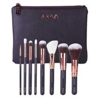 Wholesale Rose Golden ZOEVA Pro Makeup Brush Set Completed Make up Brush Cosmetic Tool Kits with Brushes Clutch