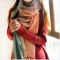 Wholesale Newest Winter Scarf Women Plaid Scarf Shawls Brand Scarves For Women Thick Imitation cashmere Neck Warmer FREE SHPPING DHL
