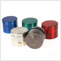 Wholesale 50MM Herb Grinder Smoking Grinder Parts SharpStone CHROMIUM CRUSHER Zinc Alloy Teeth Herbal Grinder Tobacco Grinder