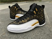 Wholesale New Dan Retro XII Wings Basketball Shoes Oreo Gold Sport Shoes Macklemore Athletics Sport Sneaker Boots Size