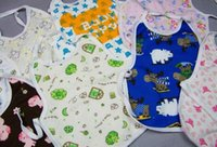 baby bibs waterproof backing - High quality Hot Sale cartoon cotton surface anti water coating on the back cotton baby bibs waterproof baby Burp Cloths CM