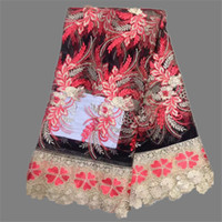 african cloth designs - New arrival appliqued design French lace cloth African net lace fabric with lace for for evening dress ZQN2 yards