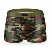 Wholesale Sexy flat angle Underwear Camouflage Underwear Boxer Briefs for Men ice silk underpants Underwear U convex Pouch Underwear