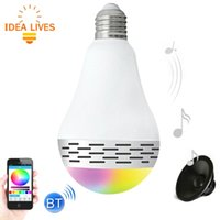 Wholesale E27 RGB Smart LED Light Bulb Bluetooth Speaker Light Energy Saving Lamps Supports APP AC V