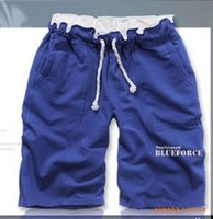 Wholesale Mens gym Running Sport Cotton Casual Shorts Men Brand New Summer Fashion Plus Size Fitness Men Brand Solid Color