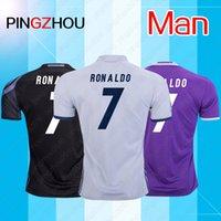 Wholesale Thai Quality madrid soccer Jerseys RONALDO jersey home white away JAMES BALE RAMOS football shirts RONALDO soccer Jersey