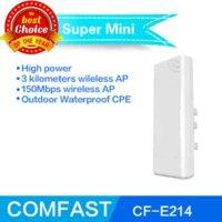 al por mayor enrutador de red al aire libre-Cpe inalámbrico al aire libre Comfast CF-E214N punto de acceso inalámbrico n CPE Router 14dBi Antena con puente de red impermeable POE