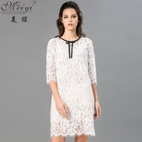 asymmetrical eyes - 2016 summer causal dress lace elegant half sleeve knee length party evening pencil dress cheap chinese export eye catching