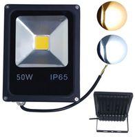 Wholesale Refletor LED Flood Light w w w w V waterproof IP65 foco projecteur COB Led Floodlight Outdoor Lighting Spotlight