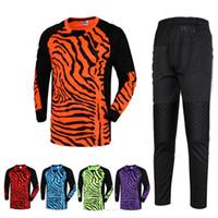Running Men Full 2016 New Kids Running Football Goalkeeper Wear Kits Sponge Protector Suit Men Soccer Goal Keeper Jersey Uniforms Long-Sleeve Training Sets