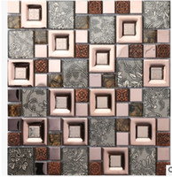 Wholesale The mosaic backdrop of European modern interior wall tile color mosaic decorative art stickers coffee