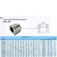 Wholesale 1PC Silver SC10UU SCS10UU Linear Ball Bearing Steel Motion Bearing CNC Optical Axis Multiple Columns B00250 BARD