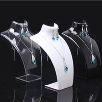 acrylic mannequin - 10pcs Acrylic Necklace Display Mannequin Jewelry Showing Stand Portrait Rack Shelf For Necklace Pendant Earring Display