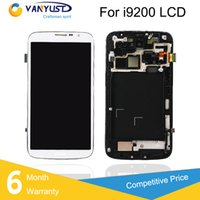 Cheap For Samsung Galaxy Mega 6.3 i9200 i9205 LCD Display Touch Digitizer Complete Screen Panels Full Assembly Replacement